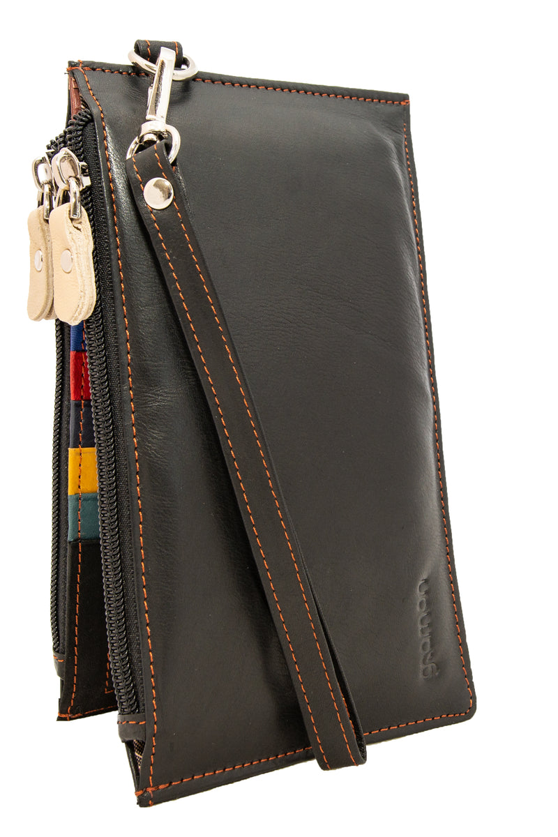 Black Gramon Ladies' Leather RFID Wallet