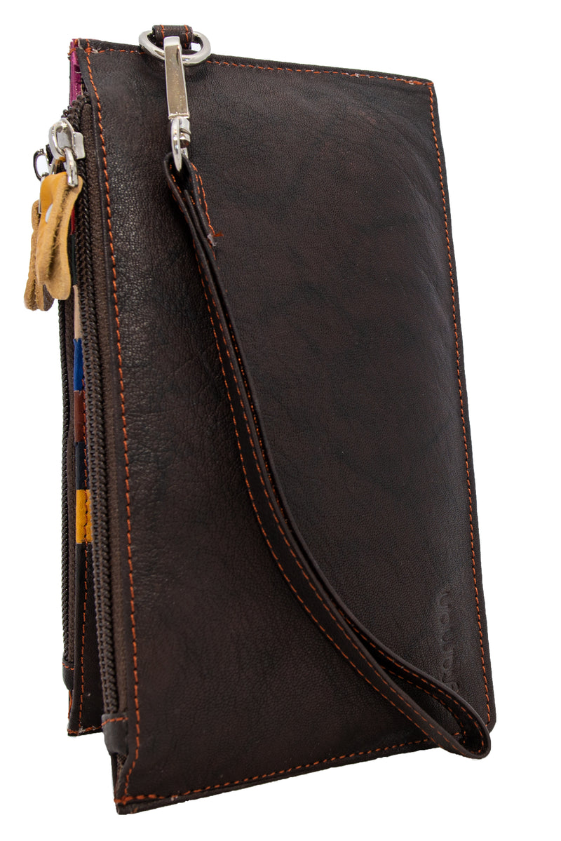 Dark Brown Gramon Ladies' Leather RFID Wallet
