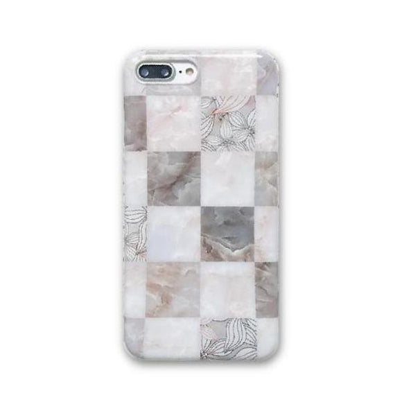 Floral Seashell Grid iPhone Case