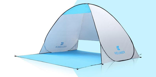 Beach Tent/Sun Shelter for 1-2 person with Automatic Popup & 90 % UV-Protective