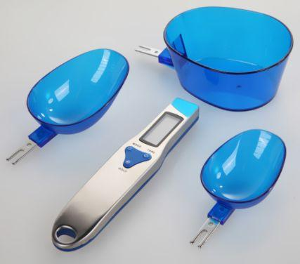 Image of 3 pcs/set Kitchen Measuring Spoon Electronic Digital Spoon Scale 300/0.1g
