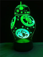 Star War Multicolor LED 3D Lamp