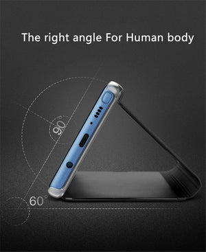 Intelligent Mirror Flip Stand Touch Case for iPhone/Android