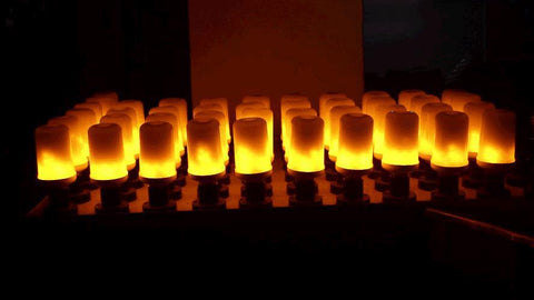 Image of LED Flame Effect Fire Light Bulb Lamp