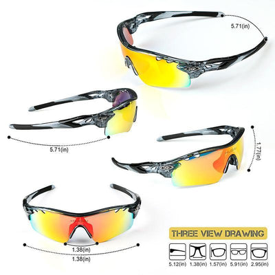 POLARIZED CYCLING GLASSES SET