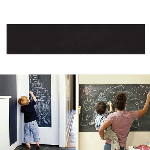 Image of Creative Blackboard Wall Stickers With Chalks