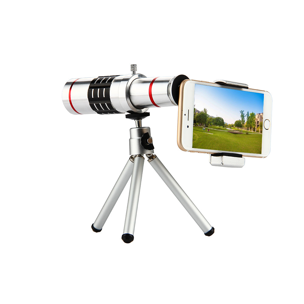 Stylish Optical Telephoto Zoom Lens with Tripod