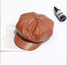 Load image into Gallery viewer, Leather Beret Hat Winter Hats