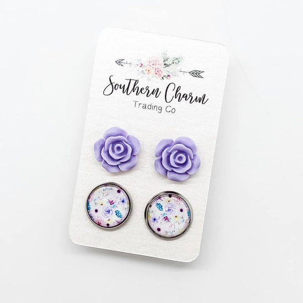 Lavender Rose and Floral Duo
