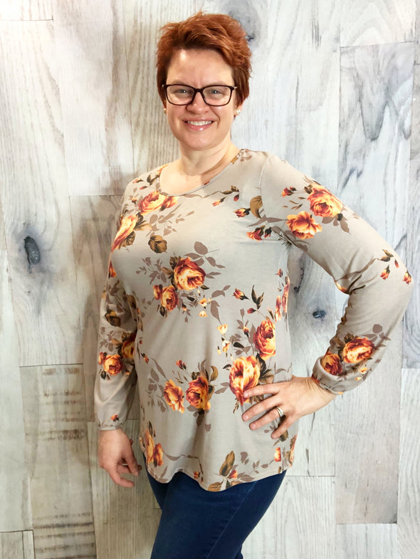Fall in Love Floral Top