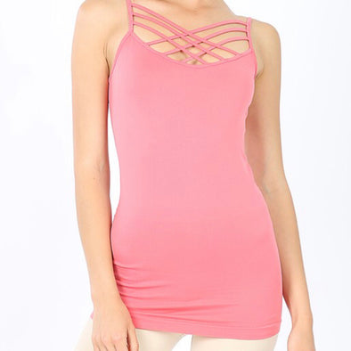Triple Criss-Cross Front Cami