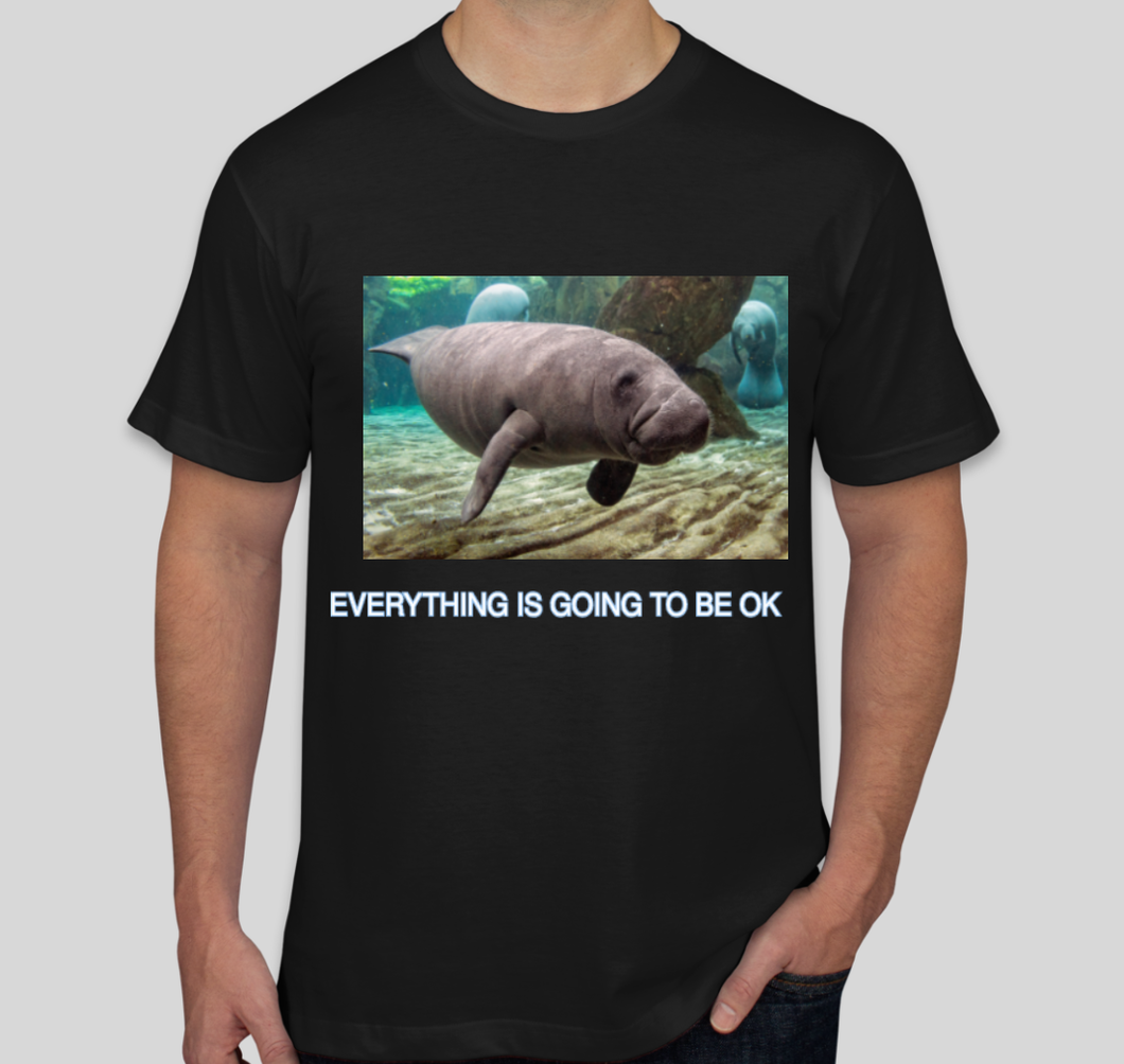CalmingManatee T-Shirt - Everything Is Going To Be OK