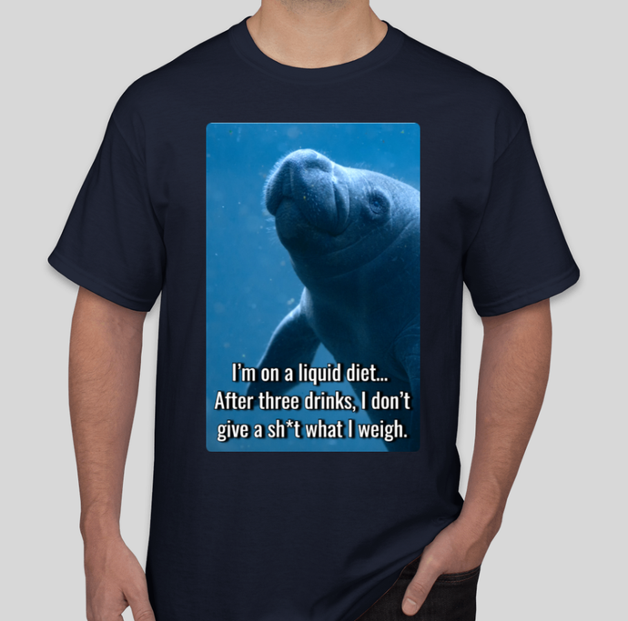 CalmingManatee T-Shirt - Liquid Diet