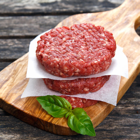 100% Grass Fed Hamburger Beef Patties Quarter Pound (20 Patties in a Box)