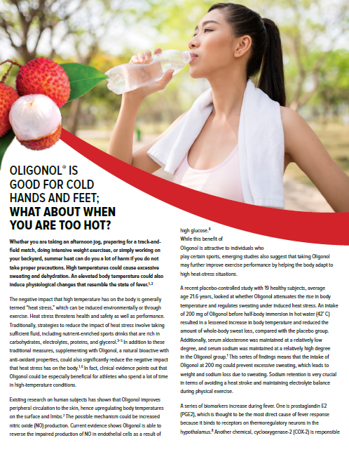 Oligonol Heat Stress Article