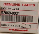 Genuine Kawasaki 12V 55W Bulb PN 92069-0034 (Pack of 1)