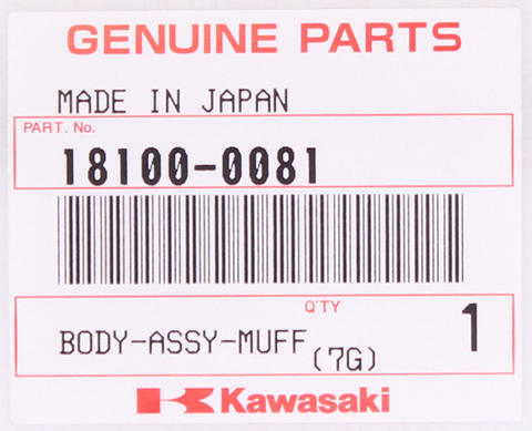 Genuine Kawasaki Slip On Muffler PN 18100-0081