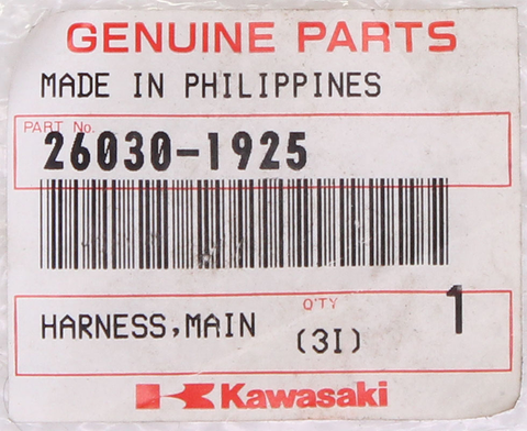 Genuine Kawasaki Main Harness PN 26030-1925