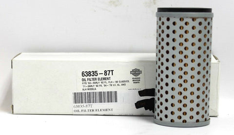 Harley-Davidson Oil Filter Element - PN 63835-87T