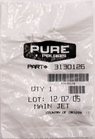 Genuine Polaris Main Jet PN 3130126