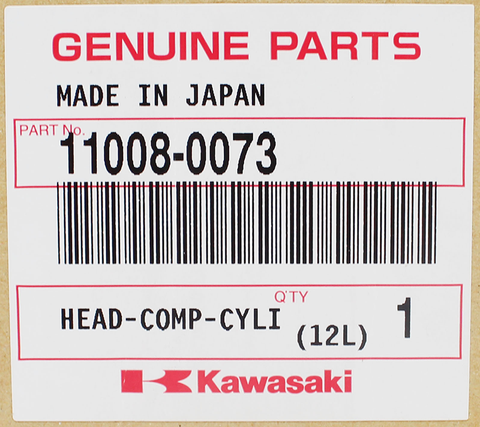 Genuine Kawasaki Cylinder Head PN 11008-0073