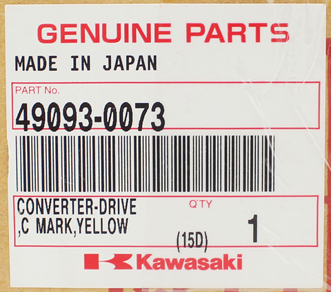 Genuine Kawasaki Yellow Mark Drive C Converter PN 49093-0073
