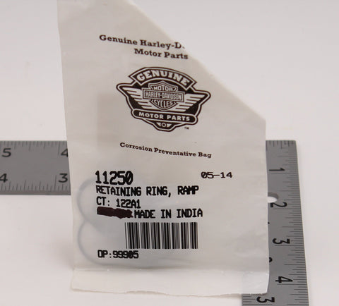 Genuine Harley-Davidson Ramp Retaning Ring PN 11250 (Pack of 9)