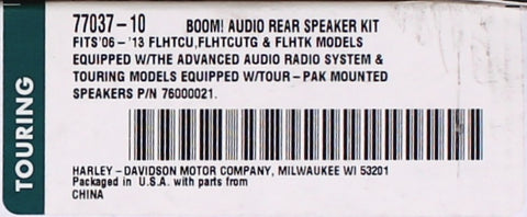 Genuine Harley-Davidson BOOM! Audio - High Performance BOOM! Bagger Rear Speakers PN 77037-10