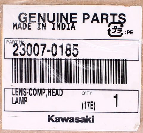 Genuine Kawasaki Lens-Comp, Head Lamp PN 23007-0185