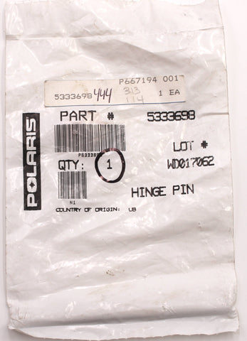 Genuine Polaris Hinge Pin PN 5333698