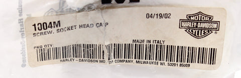 Genuine Harley-Davidson Socket Head Cap Screw PN 1004M