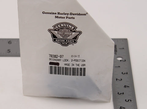 Genuine Harley-Davidson 2-Position Secondary Lock PN 70202-97 (Pack of 2)