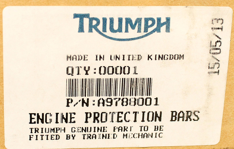 Genuine Triumph Engine Protection Bars PN A9788001