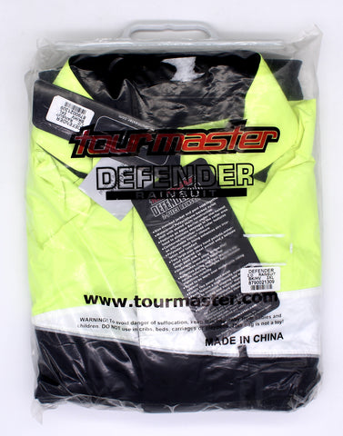 Tourmaster Defender 2.0 Rainsuit Black/ High Viz, 3XL PN 8790-0213-09