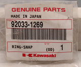 Genuine Kawasaki Snap Ring PN 92033-1269 (Pack of 1)