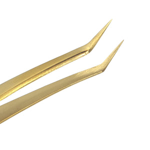 VETUS Gold Tweezers (MCS-19) - Lashmer Nails&Eyelashes Supplier