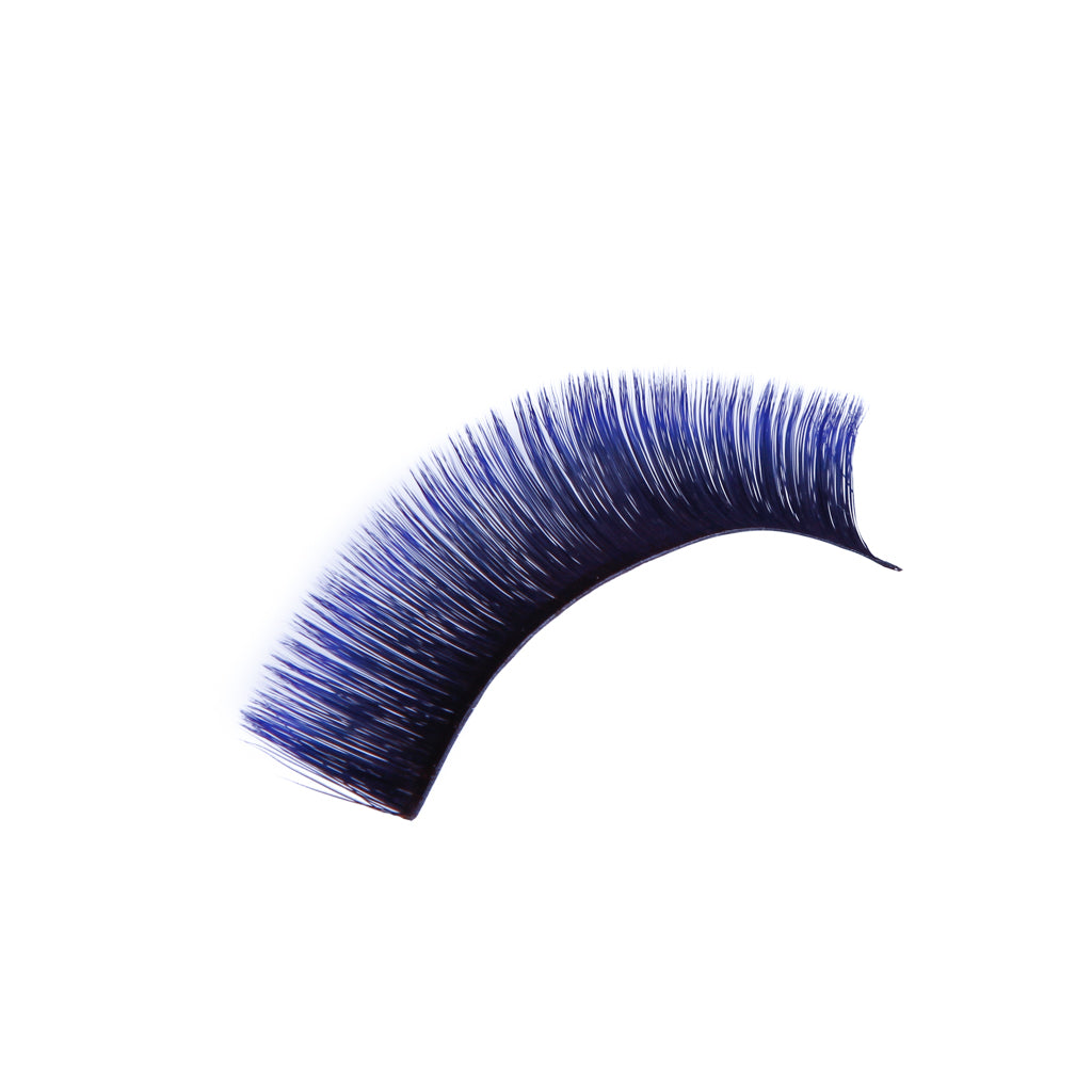 Blue Fast and Easy Fans Eyelashes  D Curl  (0.07)