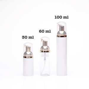 Empty Gold/Rose Gold Foaming Pump Bottles - Lashmer Nails&Eyelashes Supplier