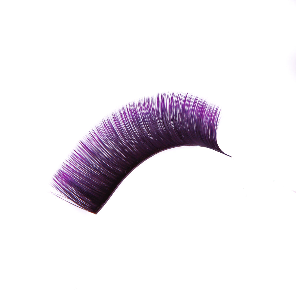 Purple Fast and Easy Fans Eyelashes  D Curl  (0.07)