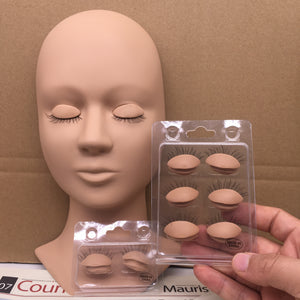 Training Mannequin Head Replacement Eyelids - Lashmer Nails&Eyelashes Supplier