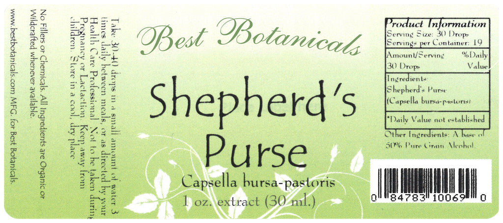 Shepherd's Purse Extract Label