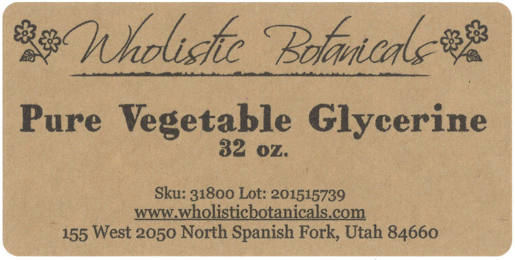 Glycerine Label