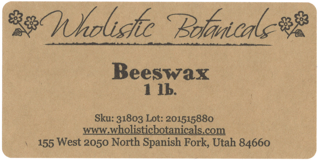 Beeswax Label