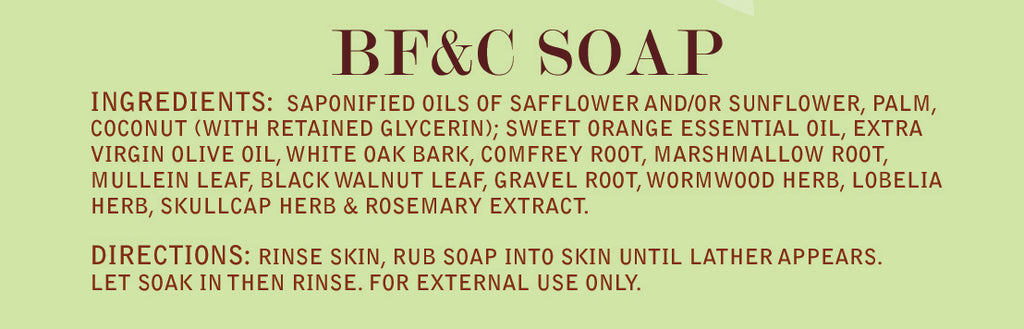 BF&C Soap Label
