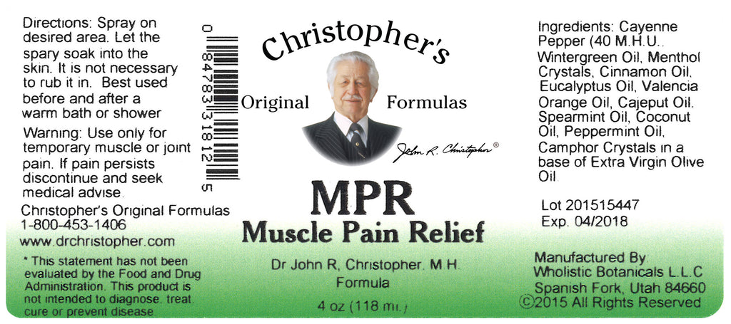 MPR Spray Label