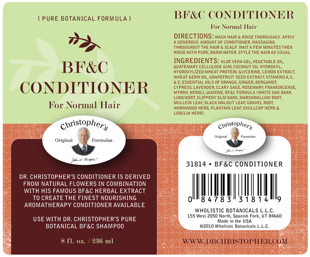 BF&C Conditioner Label