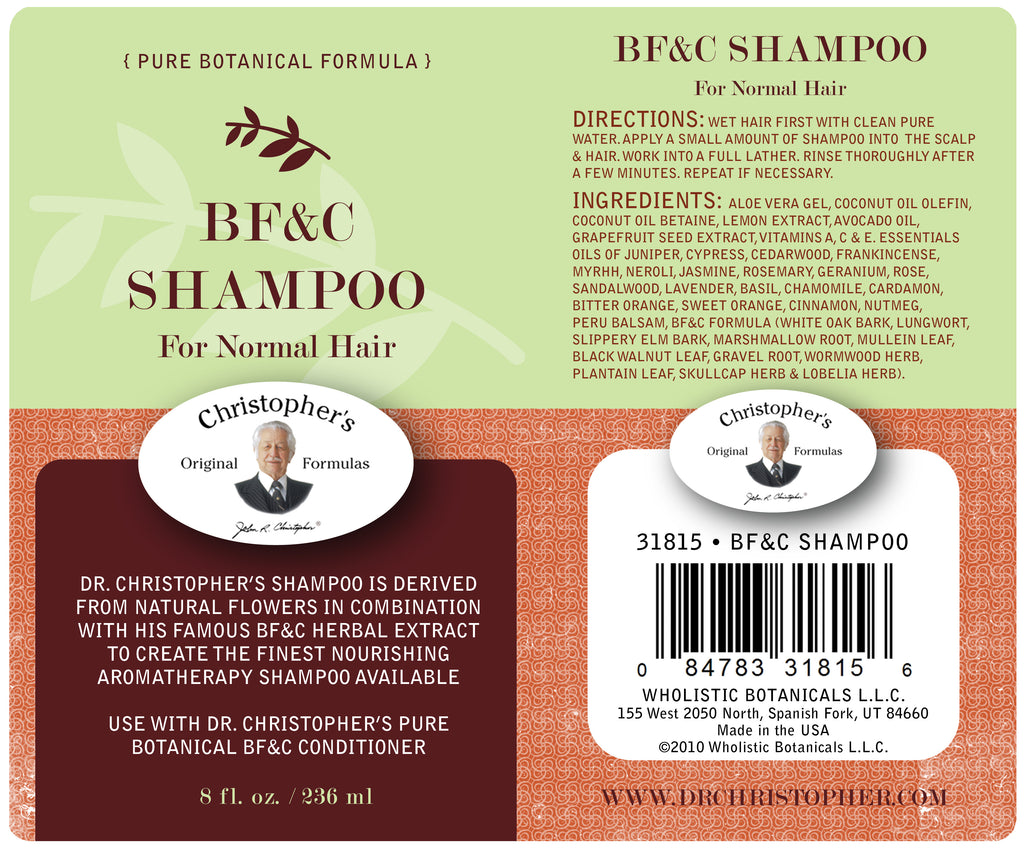 BF&C Shampoo Label