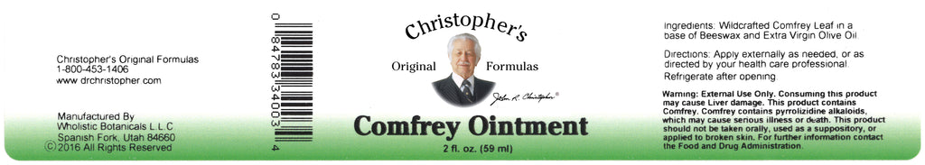 Comfrey Ointment Label
