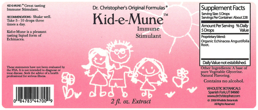 Kid-e-Mune Extract Label