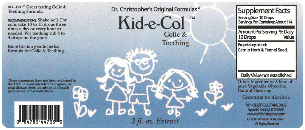 Kid-e-Col Extract Label